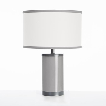 stone table lamp gunmetal finish