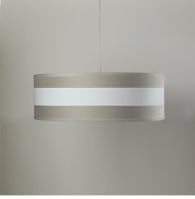stripe shallow cylinder pendant - taupe