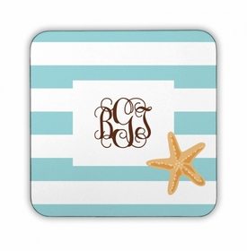 Stripe Starfish Square Coaster
