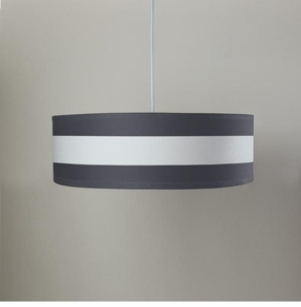 striped shallow cylinder light - pewter