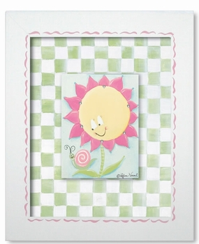sunny flower wall art - lilac stripe - SOLD OUT