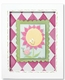 sunny flower wall art - pink swirl - SOLD OUT