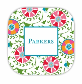 suzani hardback rounded coaster<br>(set of 4)