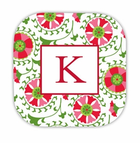 suzani holiday hardback rounded coaster<br>(set of 4)
