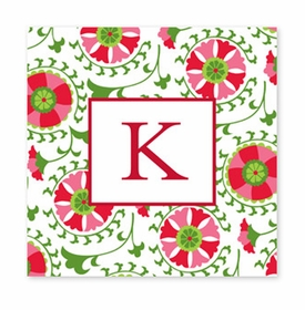 suzani holiday square paper coaster<br>set of 50