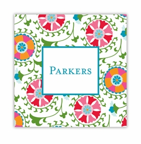 suzani square paper coaster<br>set of 50