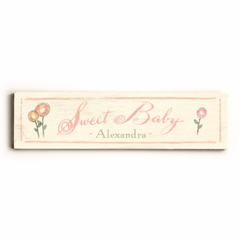 sweet baby II vintage sign