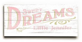 sweet dreams girl vintage sign