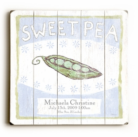 sweet Pea 2 vintage sign