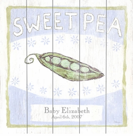 sweet pea twins vintage sign