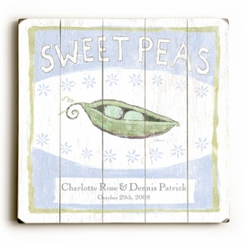 sweet peas 2 in a pod vintage sign