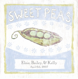 sweet peas vintage sign