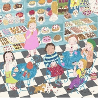 sweet shop wall art canvas reproduction
