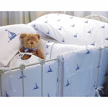 sweet william by the sea sailboats crib bedding