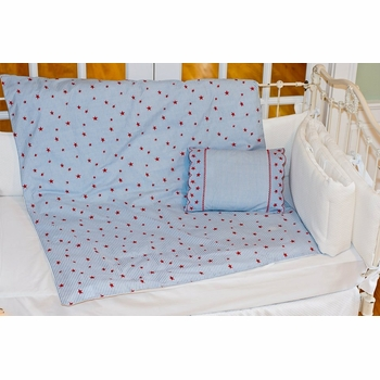 sweet william red star on stripe duvet set - currently unavailable
