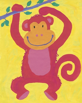 swinging monkey wall art