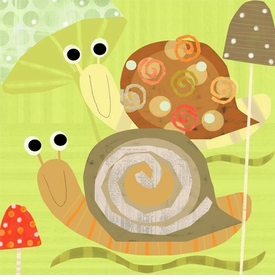 swirly snails - wall art