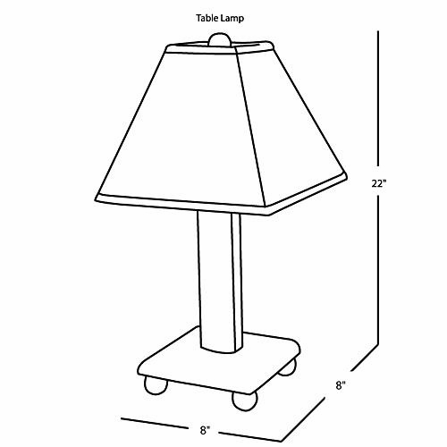 Table Lamp (safari Animals)