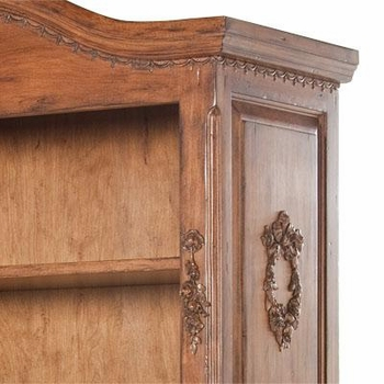 tall french bookcase - chateau finish/moulding