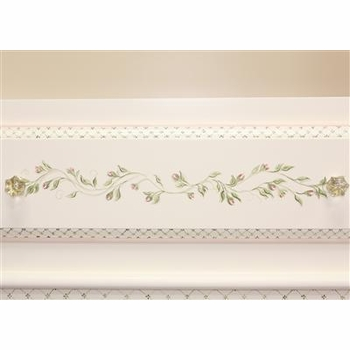tall french bookcase - floral vines