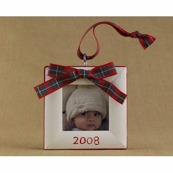 tartan bow christmas ornament