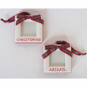 tartan christmas ornament