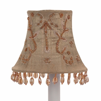taupe beaded vine chandelier shade