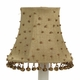 taupe brass dangle chandelier shade