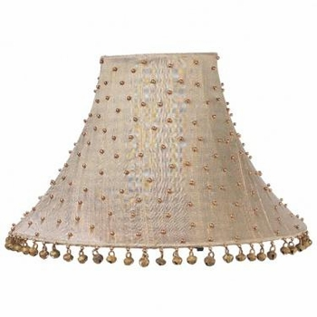 taupe brass dangle medium shade