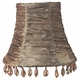 taupe gathered fabric chandelier shade