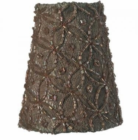 taupe lace diamond sconce shade