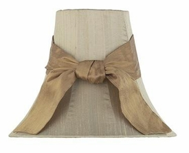 taupe lamp shade-gold sash