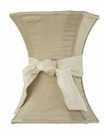 taupe medium hourglass shade ivory sash