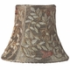 taupe vine embroidery chandelier shade