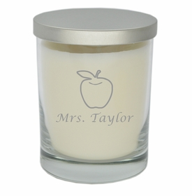 teacher appreciation silver soy candle
