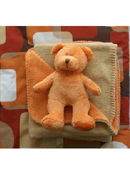 teddy bear and matching blanket