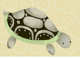 tennyson the turtle wall art canvas