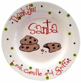 """thank you santa"" personalized plate"