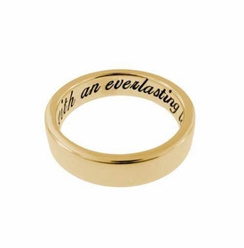 thick 14k gold 5mm ring