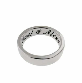 thick 14k white 5mm ring