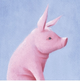 this little piggy wall art canvas reproduction