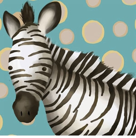 timmy the zebra wall art canvas reproduction
