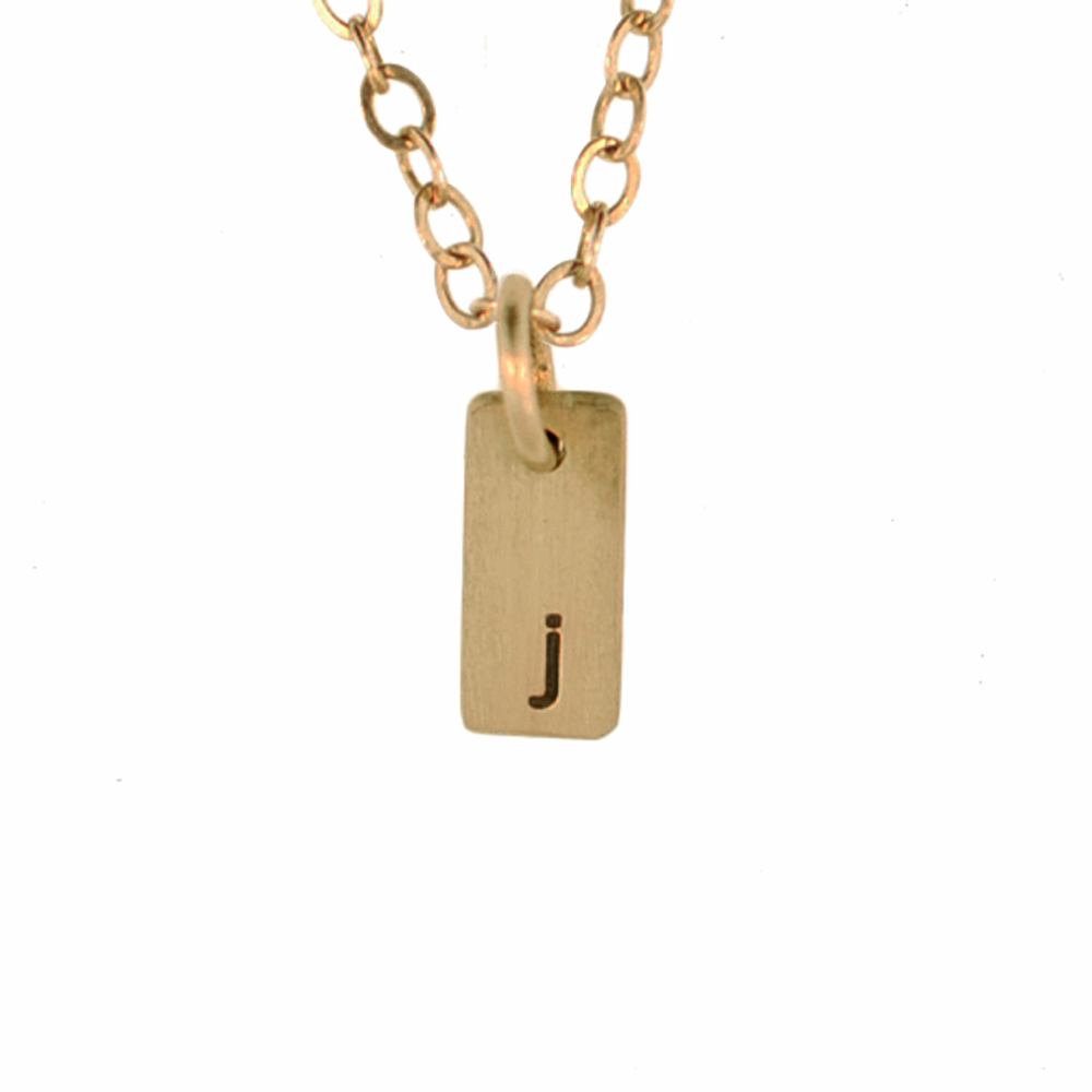 Tiny 1 2 Quot 14k Solid Gold Small Id Tag Necklace