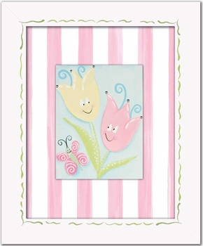 tiptoe tulips wall art - pink swirl - SOLD OUT