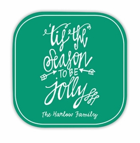 tis the season hardback rounded coaster<br>(set of 4)