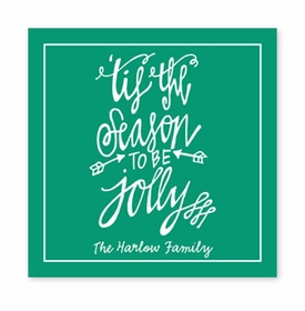 tis the season square paper coaster<br>set of 50