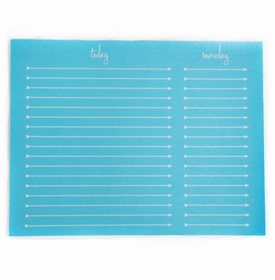 to do someday note pad - neon blue