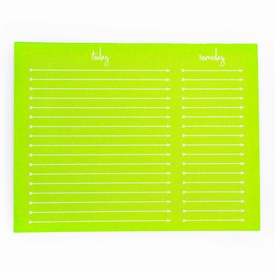 to do someday note pad - neon green