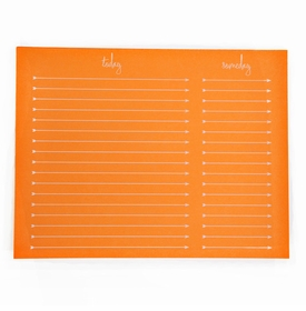 to do someday note pad - neon orange