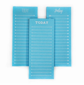 today to do note pad - neon blue